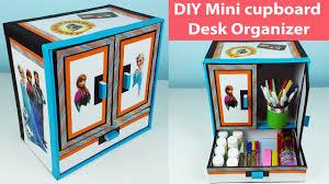 DIY mini cupboard desk Organizer/ drawer organizer out of cardboard.