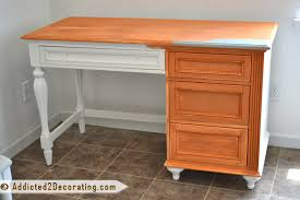 turquoise desk before chalk paint furniture