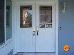 Double Front Doors White