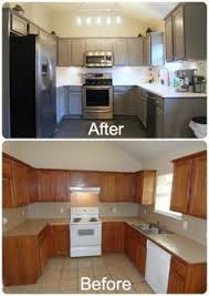 painted gray kitchen cabinetsKitchen  Excellent Painted Kitchen Cabinets Before And After Grey