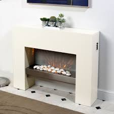 free standing fire surround white electric mdf fireplace flicker modern living flame stacked stone veneer wood blower effect fires vent propane media oak