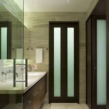 inspiration for a mid sized contemporary master beige tile bathroom remodel in chicago with an
