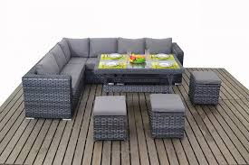 grey rattan dining table. platinum grey rattan corner sofa with dining table set