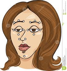 Acupressure Points On Face Stock Vector Illustration Of