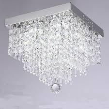 new modern led crystal ceiling light living room