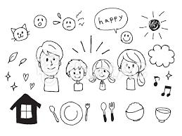 手描き家族ファミリーイラストセットイラスト No 1137881無料