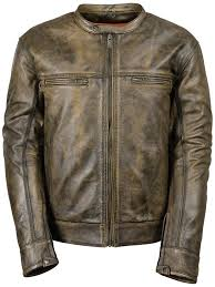 distressed vintage brown vented leather motorcycle scooter distressed brown leather jacket