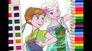 Elsa And Anna Coloring Book Disney Frozen Coloring Pages For Kids