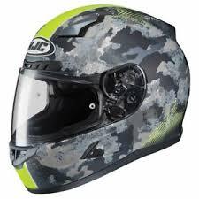 Details About Hjc Cl 17 Void Motorcycle Helmet Matte Black Hi Viz Yellow