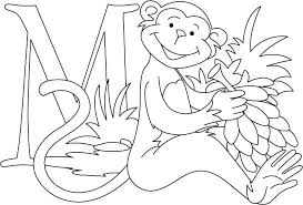 Laughing Monkey Coloring Page Pages For Kids Free To Print Pokemon