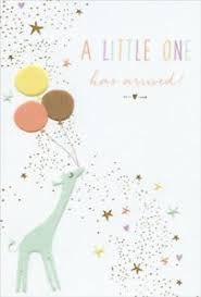 Baby Congratulations Card Details About Pictura Baby Giraffe Holding Balloons Sara Miller New Baby Congratulations Card