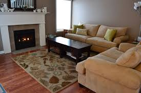 Area Rugs Floral Pattern Rugs Black Wooden Table Cream Fabric Sofa