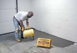 self leveling resurfacer can repair uneven or worn interior floors show caption hide caption