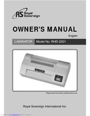 <b>Royal Sovereign RHD-2201</b> Manuals