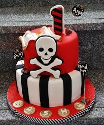 Pirate Themed 1st Birthday Cake By Enza Sweet E Cakesdecor