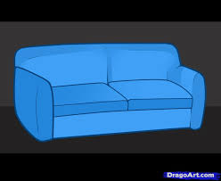 cartoon sofa chair. How To Draw Furniture Cartoon Sofa Chair