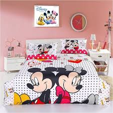 mickey and minnie bedding sets mouse bed sheets full size double