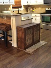 wooden trash cans for kitchen tilt out wooden trash bin rustic dark wooden kitchen