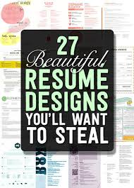 Eye Catching Resume Templates Microsoft Word 27 Magnificent Cv Designs That Will Outshine All The Others