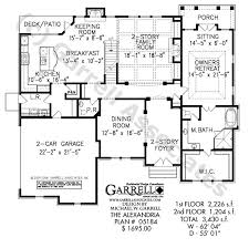Alexandria house plan plans by garrell associates inc house plans with master bedroom on first floor photos