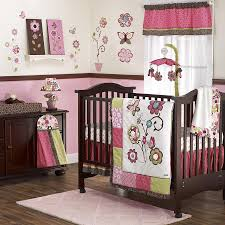 modern girl crib bedding set  home inspirations design