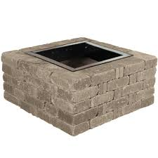 concrete patio with square fire pit. Pavestone RumbleStone 38.5 In. X 17.5 Square Concrete Fire Pit Kit No. Patio With S