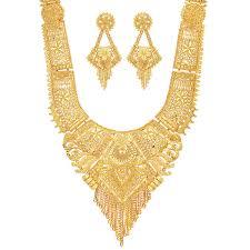 Long Rani Haar Designs In Gold Mansiyaorange Party Collection Rani Haar Juelry Jwelery Long Necklace Jewellery Neckalce Sets For Women One Gram Golden 9 Inch Long