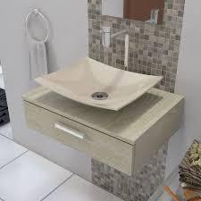 Tamanho ideal para a maioria dos casos, levando em consideração que&n. Tudo Sobre Cuba Pia De Apoio Para Banheiro E Lavabo Modelo Folha Bege