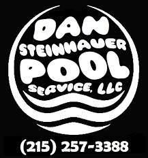 pool service logo. (215) 257-3388. Dan Steinhauer Pool Service Logo