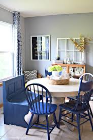 blue dining room furniture. Navy Blue Farmhouse Kitchen Bench Makeover With Diva Of DIY Chalk Mix Paint · Beautiful And Simple Table Dining Room Furniture