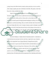 emotional intelligence essay example topics and well written  emotional intelligence essay essay example