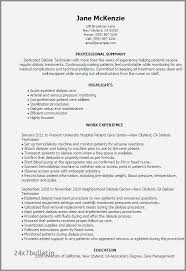 Service Tech Resume 69 Inspirational Patient Care Technician Resume Objective Examples