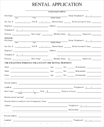 Application Form For Rental Free Rental Application Form Template Business