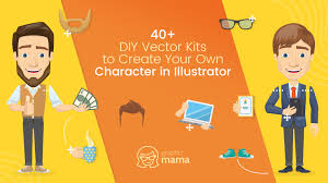 40 diy vector kits to create your own character in ilrator