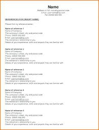 References Template Free Resume References Template