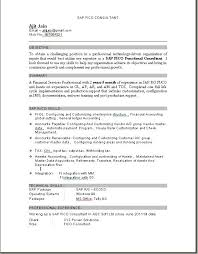 Sample Fresher Resume of SAP FI Certified Resume Examples and Writing Letter