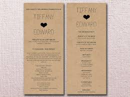 Wedding Ceremony Brochure Templates Wedding Ceremony Programs