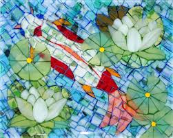 fused glass mosaics with depth kent lauer pendant