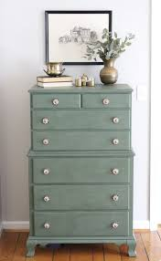 painted green furniture. A Wood Dresser Painted Green- Amy Howard Paints- One Step Paint- Cherbourg- How To Use Chalk Finish- Green Furniture- Furniture