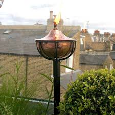 Oil Burning Garden Torch In Copper Or Silver - lights & lanterns