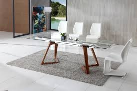 glass and wood dining table. Dining Room, Glass And Wood Table Chairs 5 Piece Set Black Big