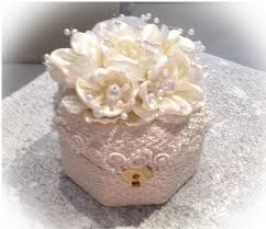 Decorative Ring Boxes Elegant hand made lace wedding and engagment ring boxes 4