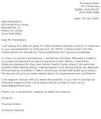Cover Letter Pr Media Relations Cover Letter Cover Letter Sample For