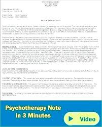 Therapy Case Notes Template