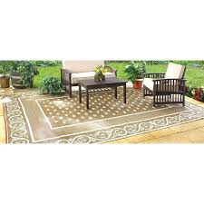 hampton bay outdoor rugs new reversible patio mat x khaki model home depot area