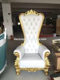 queen chair throne chairs white luxury high back king for party weddings