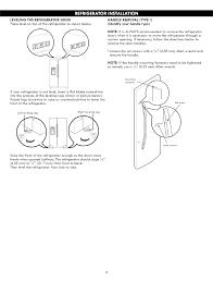 How To Level A Kenmore Refrigerator Page 8 Of Kenmore Refrigerator 7955131 User Guide Manualsonlinecom