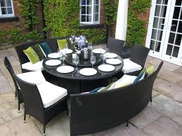 unique design round outdoor dining table super cool ideas round intended for outdoor dining sets for