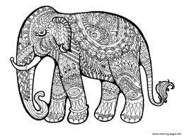 Small Picture Elephant Complex For Adults Print Out Hard Coloring Pages Printable