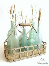 she s gone coastal with diy sea glass bottles